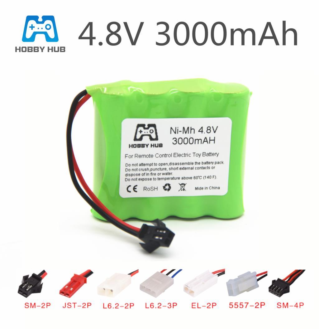 4.8v rechargeable battery For Tanks robots 3000mah Ni-MH battery nimh aa 4.8V pack 3000mah batteries