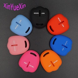 Xinyuexin para mitsubishi silicone caso chave capa lancer ex asx outlander galant pajero 2 botões do carro remoto chave jaqueta