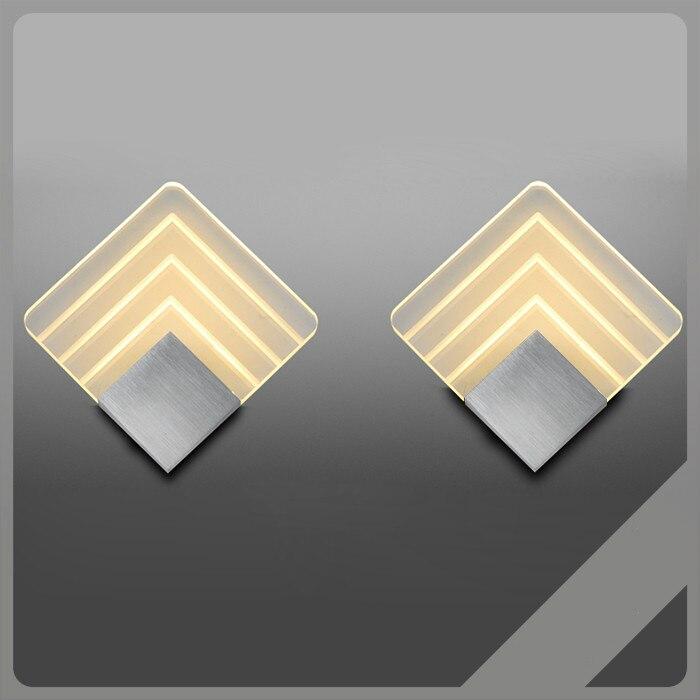 Lámpara de pared LED de 10W para interiores AC110V/220V, aplique Rectangular de...