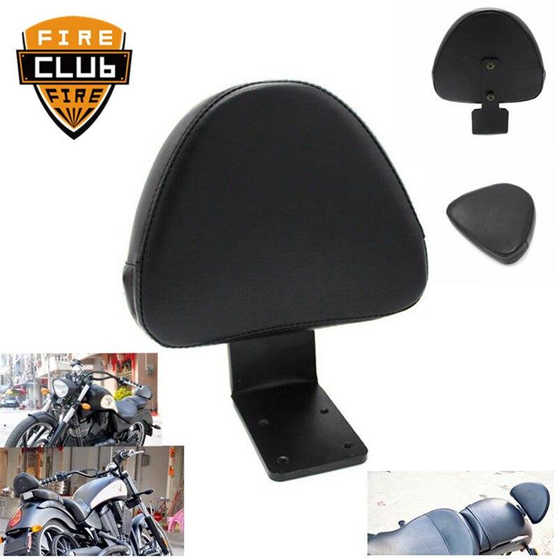 Respaldo trasero asiento negro Sissy Bar pasajero motocicleta respaldo para conductor Pad para Victoria High-Ball Vegas Kingpin 8 Ball Jackpot