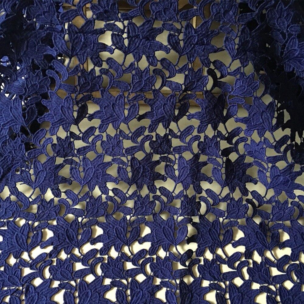 1 ярд, кружевная ткань в нигерийском стиле, темно-синий шнур, кружевная ткань, высокое качество, гипюр, французская кружевная ткань для женщин, материал платья
