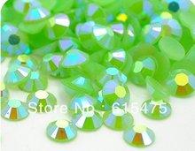 6mm gelée vert AB couleur SS30 cristal résine strass flatback Nail Art strass, 10,000 pièces/sac