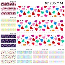 10 yardas-diferentes tamaños-San Valentín amor corazón cinta impresa grogrén cinta 7113-7121