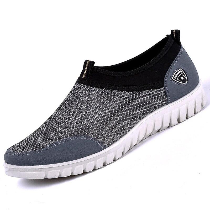 Hommes chaussures décontractées baskets maille respirant confortable mocassins grande taille 38-48 articles chaussants pour hommes Slip-on anti-odeurs Scarpe uomo
