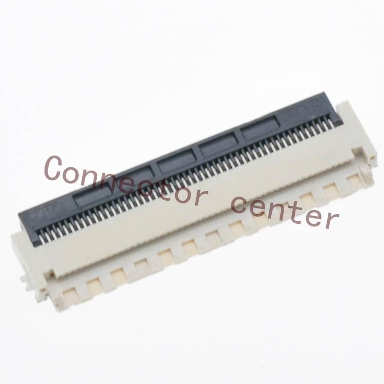 Оригинальный FPC/FFC коннектор для Hirose часов 0,5 мм Шаг 50Pin односторонний задний флип