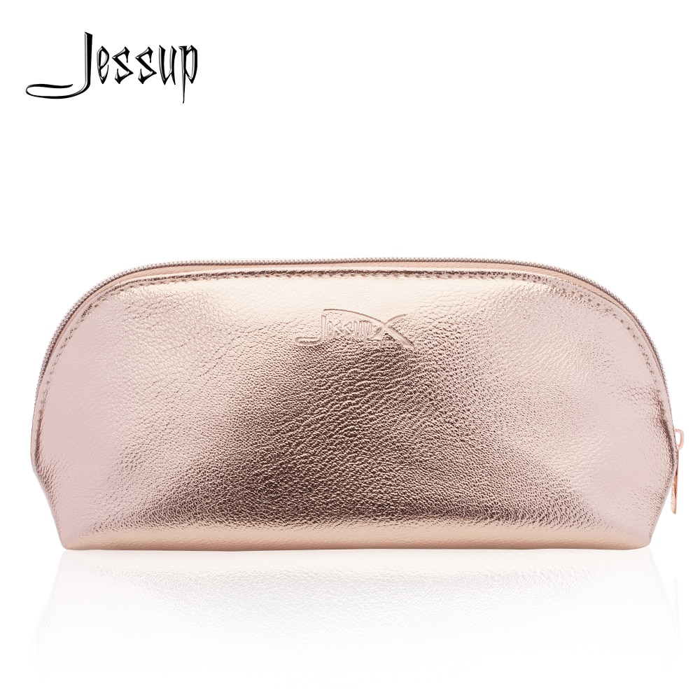 Jessup Golden Cosmetic bag set for Makeup accessories Women bags Make up tools Travel beauty case CB