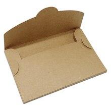 Boîte de rangement papier Kraft Vintage   Lot de 30 enveloppes pliables pour cartes de vœux photos, emballage de cartes