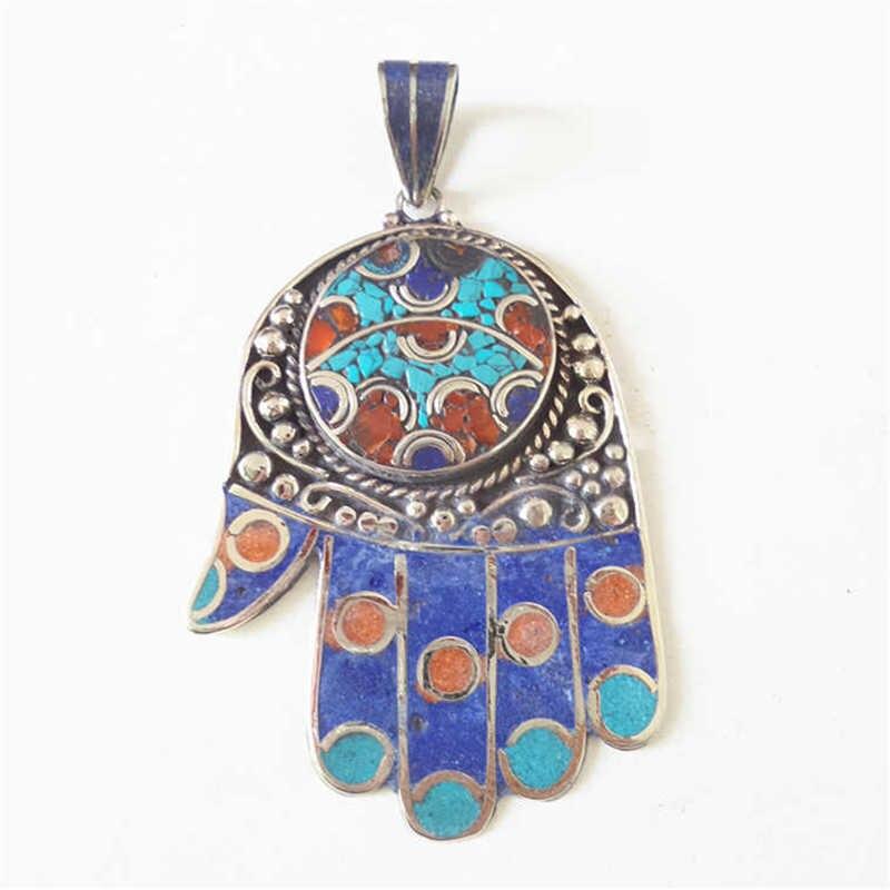 TBP532 colgantes de amuleto de mano de Buda tibetano joyería Tribal hecha a mano Vintage de Nepal