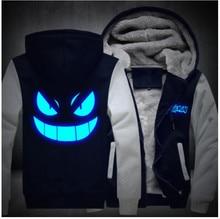 Luminous  Go Pocket Jackets 2018 New Fashion Hoody Sweatshirts Harajuku Tracksuits Monster Gengar Cosplay Hoodies Men