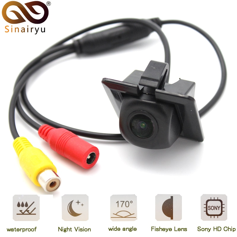 Sinairyu HD 170 Degree 1080P Fisheye Sony/MCCD Lens Starlight Night Vision Car Reverse Rear View Camera For Toyota Prado 150