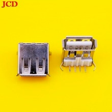 JCD USB Type A Standard Port Female Solder Jacks Connector PCB Socket USB-A type USB Jack  2 Feet 90 Degree DIY USB 2.0 jack