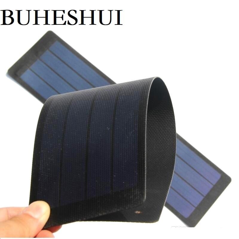 Fino à Prova Buheshui Flexível Painel Solar Amorfo Silício Célula Super Dwaterproof Água Frete Grátis 2w 6v