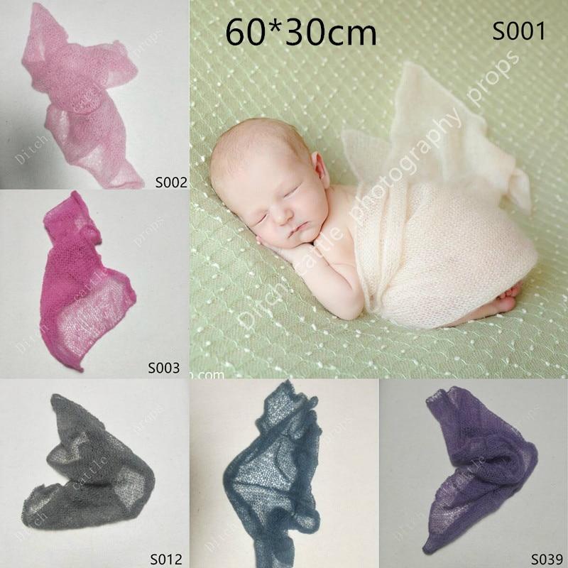 60*30 cm recién nacido manta mohair recién nacido accesorios de fotografía recién nacido