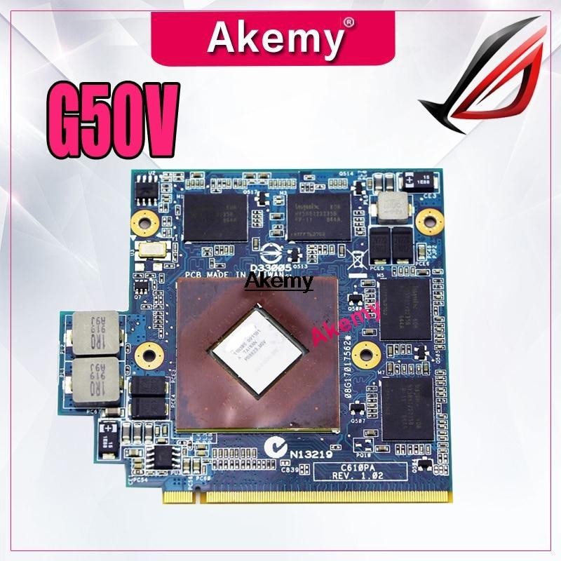9800M GS 512MB Video tarjeta para For Asus G50 G50V C610PA REV.1.02 / 08G17017562