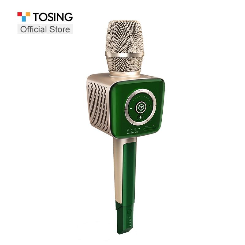 Vendedor de micrófono Tosing smartphone HIFI bluetooth/FM/UHF/EOV/AUX IN/auricular de mano inalámbrico karaoke micrófono profesional