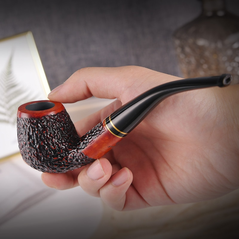 Briar Pipe tobacco Wooden tobacco pipes Smoke pipe Bent type Smoking pipes Tobacco accessories Man's gift for him enlarge