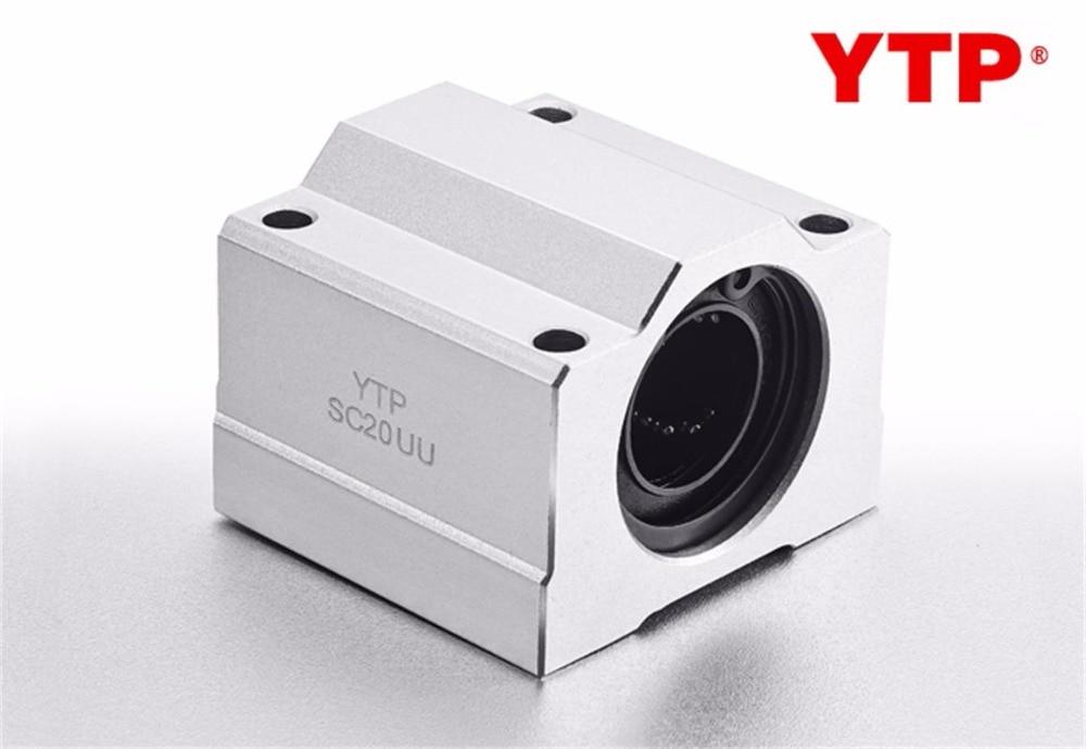 Asiento de rodamiento de bolas lineal YTP 4 unids/bolsa SC16UU/SMA16/LHBB16