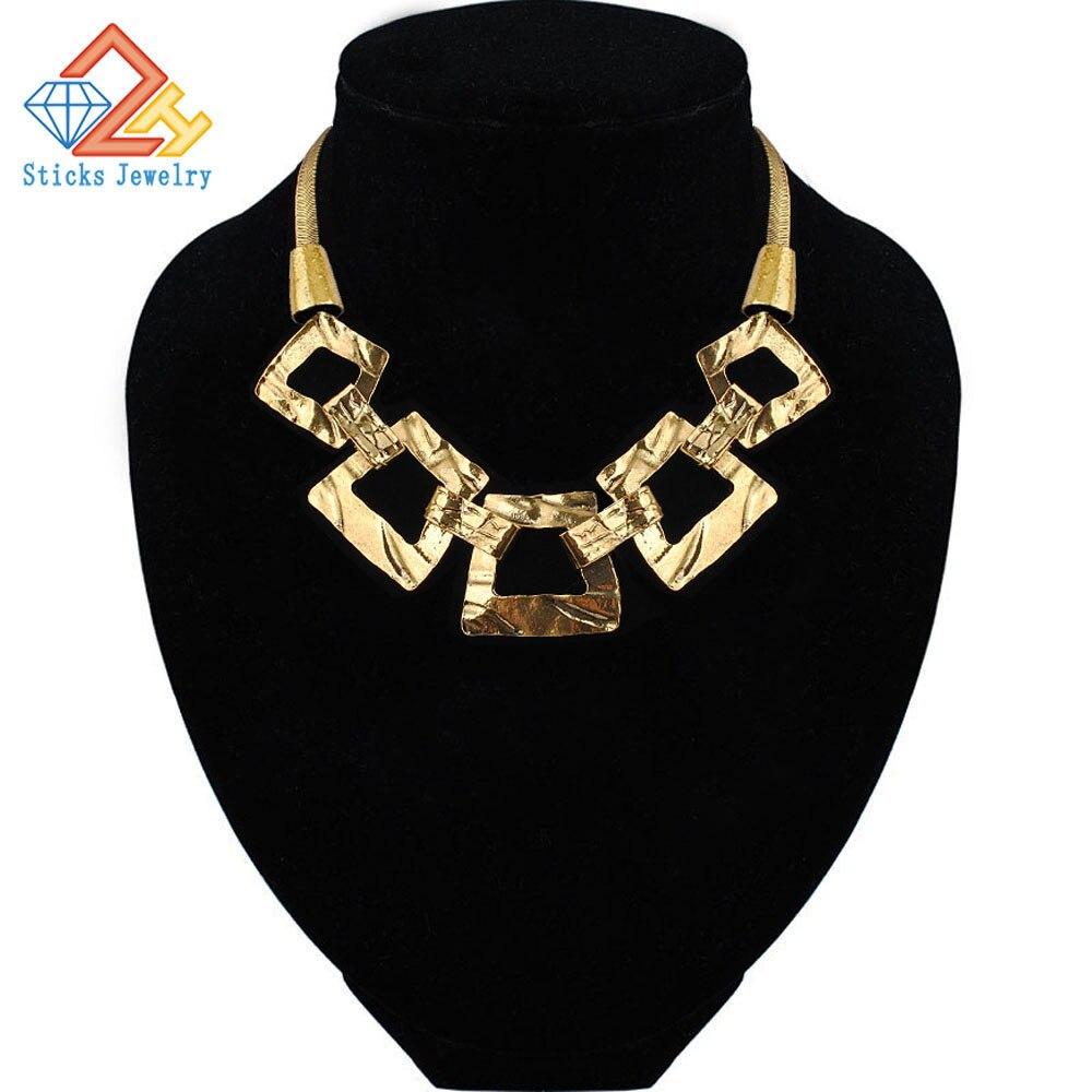 Collar Vintage moderno, Popular en Europa y lujoso, collar con cadena de clavícula Chapado en aleación, joyería, envío gratis