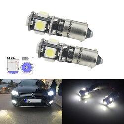 Angrong 2x h6w fuji9s 5 smd led lâmpada de estacionamento luz lateral xenon branco para mercedes livre erro