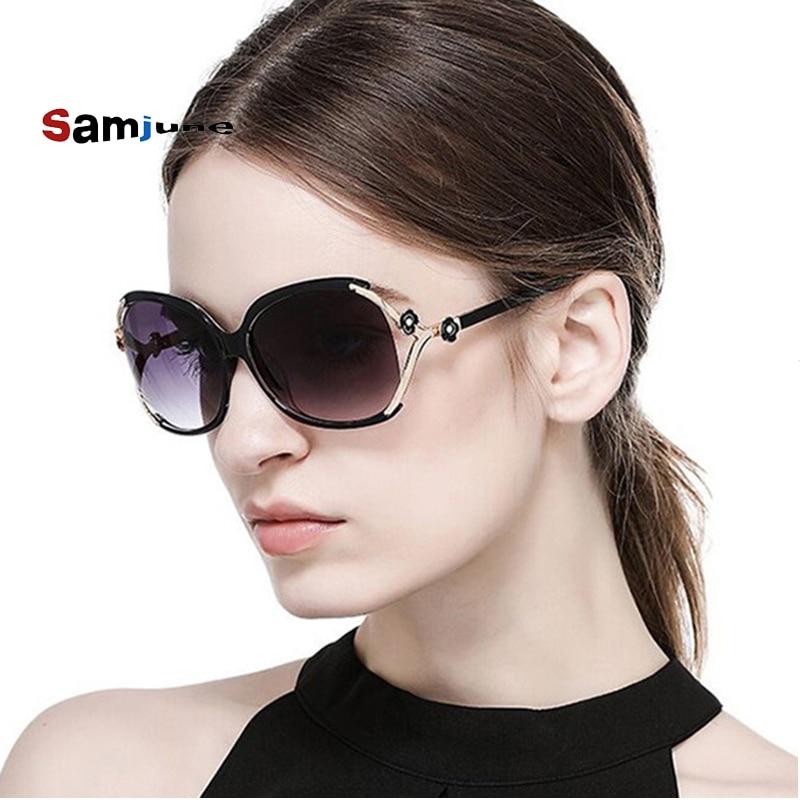 Женские солнцезащитные очки Samjune, большие очки в ретро-оправе с УФ-защитой 400