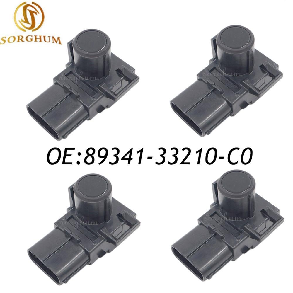 Sensor de aparcamiento PDC de 4 Uds 2012-2015 para Toyota Camry Land Cruiser 89341-33210-C0 negro