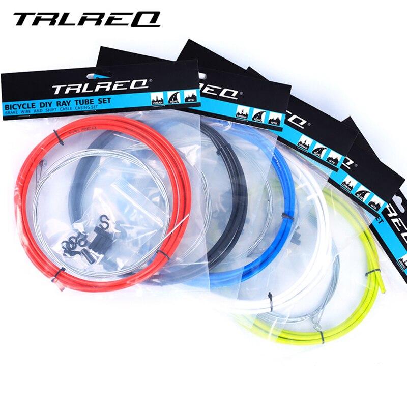 TRLREQ MTB Bike Brake Line Tube Kits 5mm Mountain Road Bicycle Brake Cable 4mm Shift Gear Derailleur kits Cycling Accessories