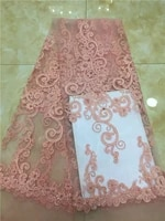 newest african tulle lace fabrics with sequins embroidery net lace african french lace high quality with beads wedding