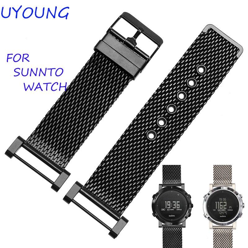 Correa de reloj Suunto Essential de alta calidad MiLan de acero inoxidable 24mm dos tipos de correa de reloj para Suunto Core Traverse pulsera