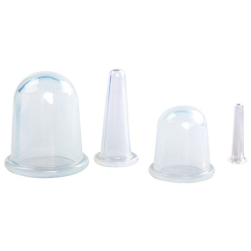 Купить с кэшбэком 4pcs Silicone Facial Massage Cupping Set Vacuum Body Massager Cups Cellulite Therapy Face Suction Cups Kit Body Helper gift Bag