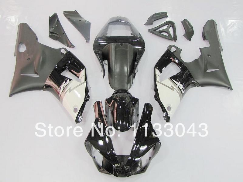 Negro blanco kit de carenado para Yamaha YZF-R1 00-01 YZF R1 00 01 piezas de carenado YZF 1000 R1 2000 2001 #886t1 + 7 regalos