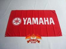 Yamaha motor racing vlag, 90*150 CM, 100% polyester, yamaha rotsen banner