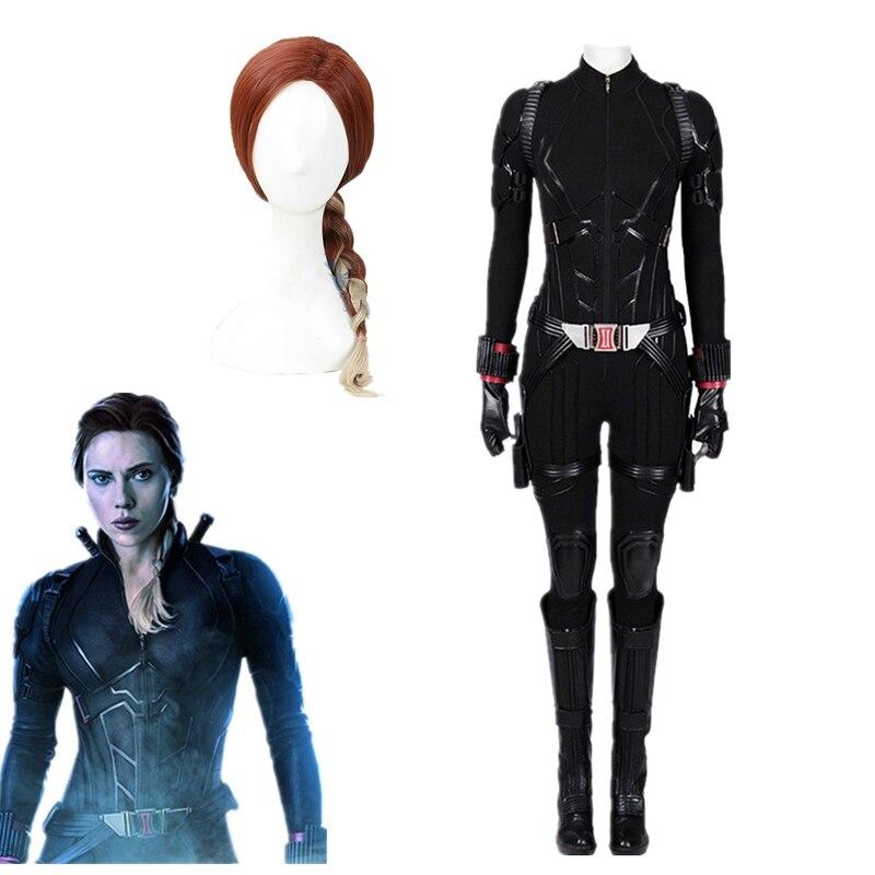 Avengers Endgame Black Widow Cosplay Natalia Romanoff traje mujeres chicas fiesta Halloween traje personalizado