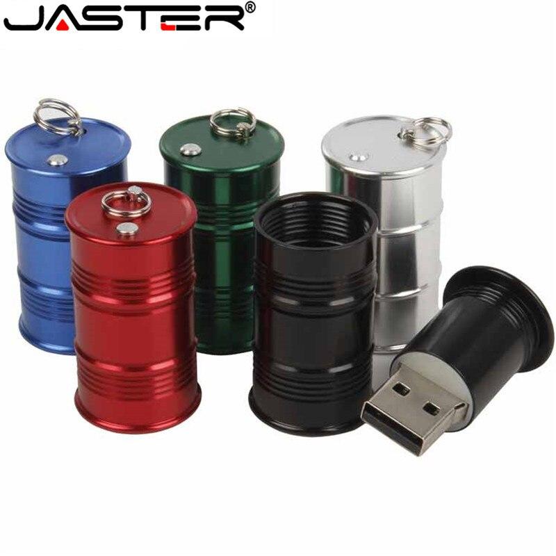 JASTER USB 2,0 металлический топливный бак флэш-накопитель 4 ГБ 8 ГБ 16 ГБ 32 ГБ 64 Гб ручка-барабан диск U диск