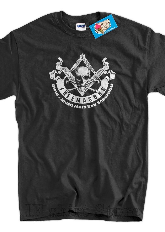 Masonry Creed, camiseta estampada con pantalla, camiseta para hombre, mujer, masón libre