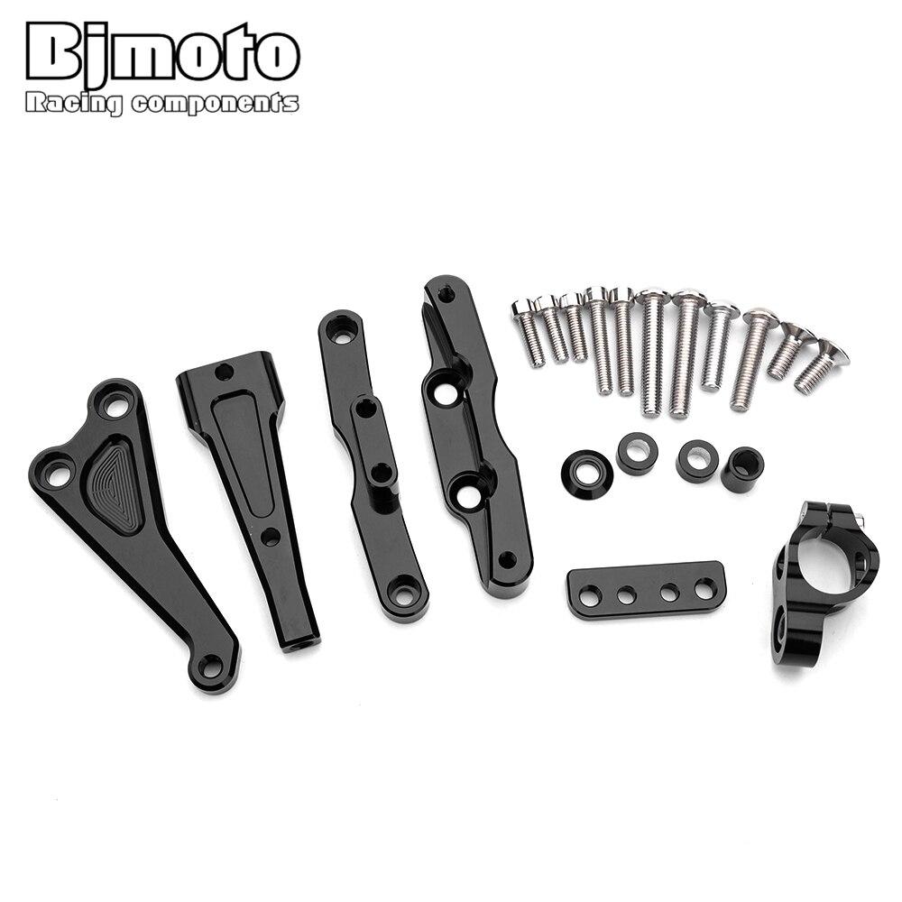 BJMOTO-دعم انزلاقي CNC لـ Motocross ، لهوندا CB650F ، مثبط التوجيه ، مجموعة دعم التثبيت