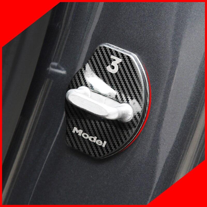 Cubierta de cerradura de puerta con pequeño cambio, cubierta de cerradura de puerta para Tesla Model 3 2016-2018, accesorios de coche