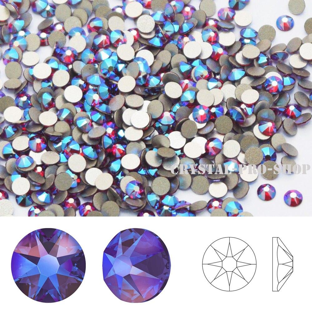 Siam Shimmer (208 SHIM) nuevo efecto de brillo Cristal de Elementos Swarovski (ss5-ss20) (sin Hotfix) diamantes de imitación con parte posterior plana