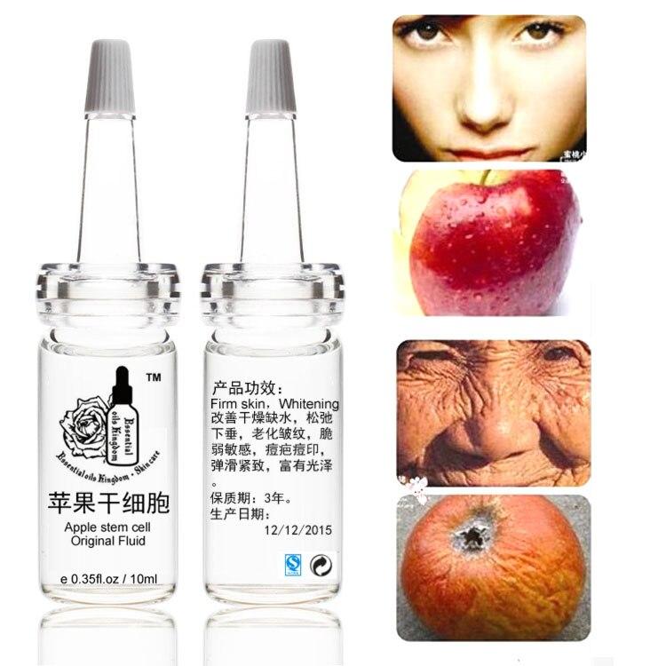 10ml*2pcs Apple Stem Cell Original Fluid  Liquid Whitening Wrinkle Moisturizing Anti Aging Flabby Prolapse, Fragile Sensitive