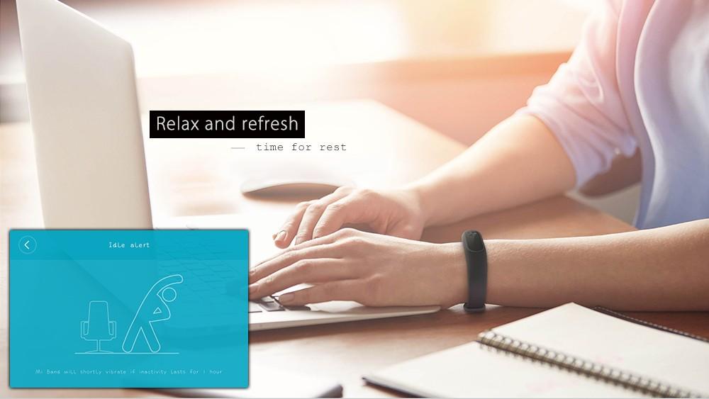 Originale xiaomi mi kompania 2 miband inteligentne centrum vigilanza del braccialetto del nadgarstek monitor oled sonno touchpad della frequ 7