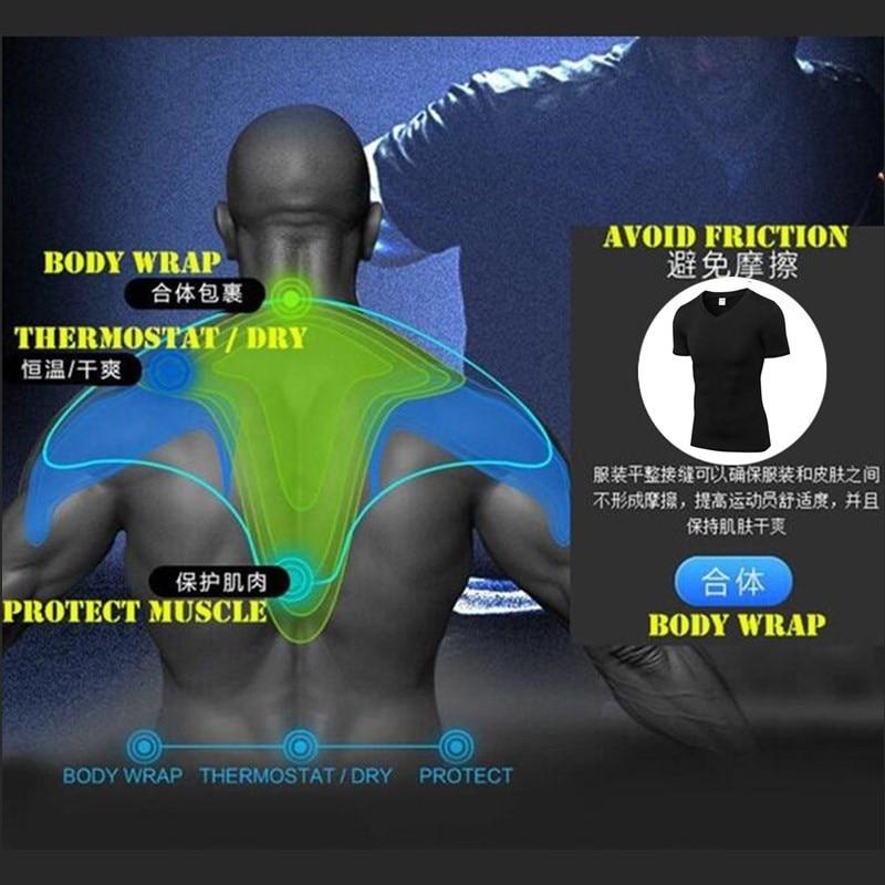 200pcs Men Wicking&Quick-Dry T-Shirt,Elastic Compression Tight Short Sleeve Underwear,Sporting V Neck Undershirts,Anti Wrinkle