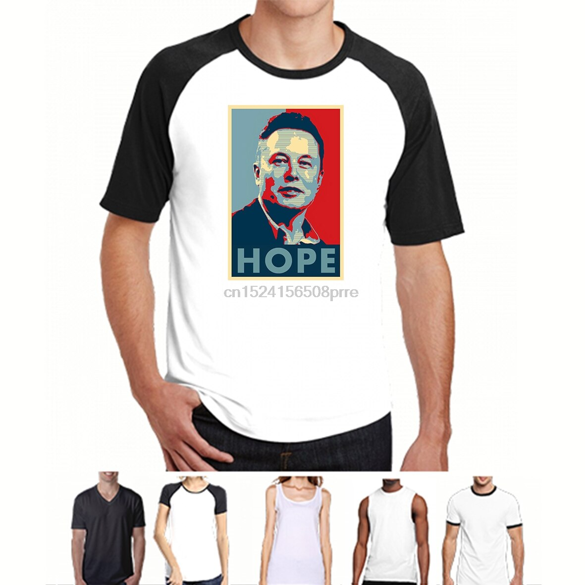 Camiseta divertida a la moda para hombre, camiseta para mujer, camiseta con estampados personalizados Elon Musk Hope Poster