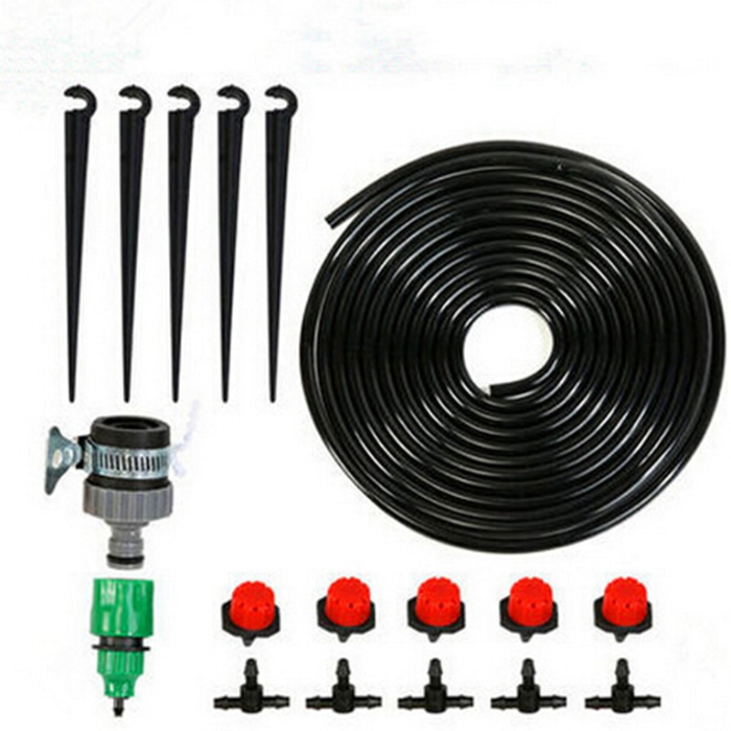 15m 4/7mm DIY Micro Drip Irrigation System Garden Water Kits Garden Supplies Garden Irrigation System Water Cooling Equipment
