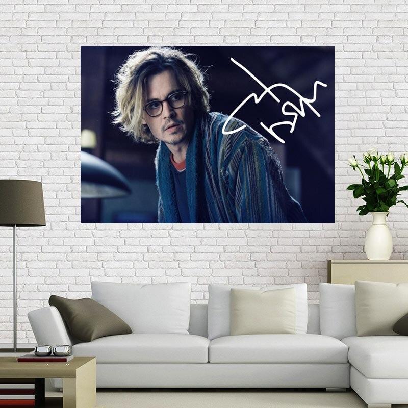 Póster de lona personalizado, póster de Johnny Depp, 60x90cm, tejido decorativo para el hogar, póster de pared, Impresión de tela de seda