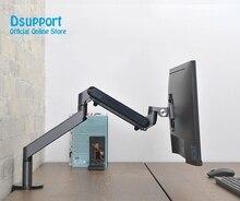 Support de moniteur support de bureau réglable en hauteur en aluminium bras unique ressort à gaz support de TV convient jusquà 32