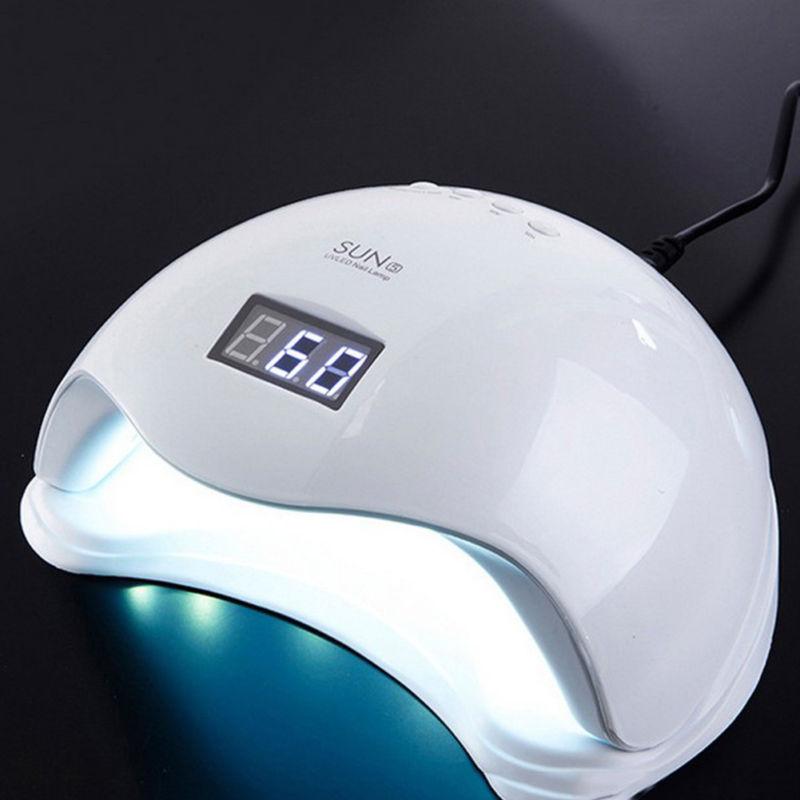 Excelente diseño 48W potente lámpara UV LED doble longitud de onda SUN5 esmalte de uñas