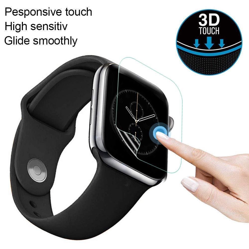 Película protectora de pantalla de alta definición HD ultrafina 3D de 5 piezas para Apple Watch Series 4 40mm 44mm película protectora de pantalla transparente