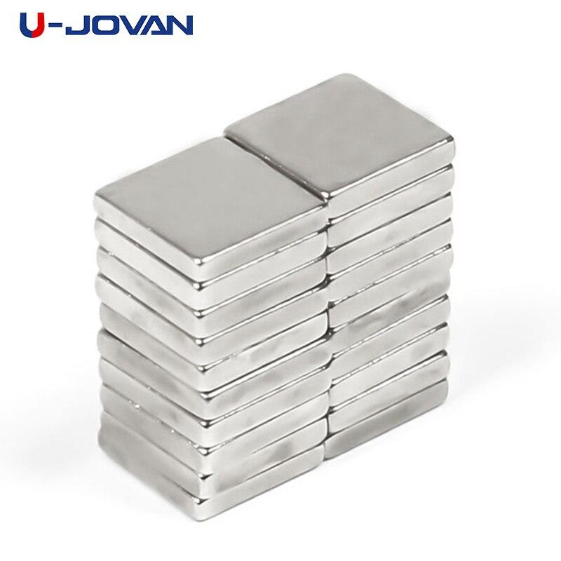 U-JOVAN 50 pces 5x5x1mm n35 pequeno bloco cubo forte poderoso neodímio ímãs terra rara permanet ímã 5*5*1
