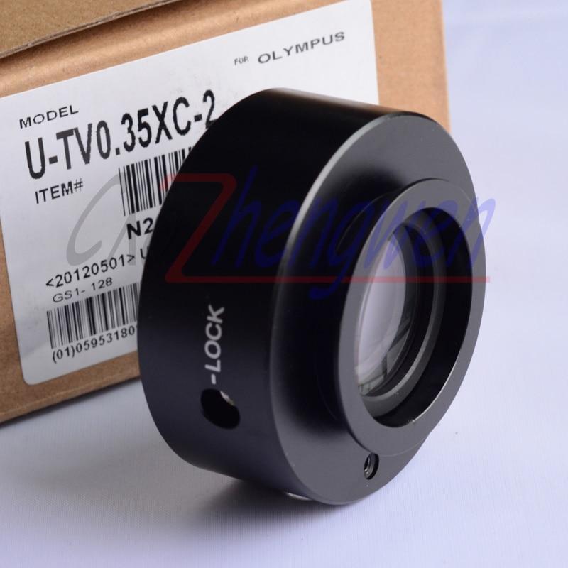 FYSCOPE Venda Quente! CE, ISO, Profissional UTV-0.35X C-Mount adaptador/Adaptador de Microscópio Olympus BX, CX