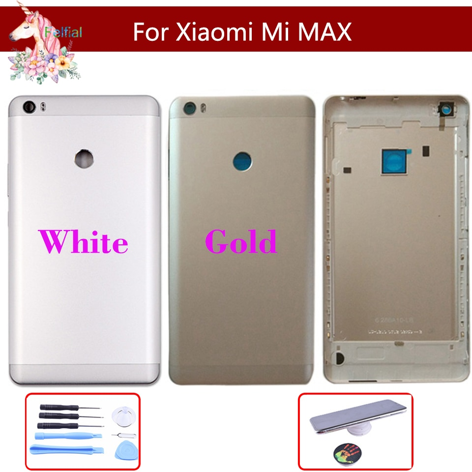 10pcs/lot Original For Xiaomi Mi Max MAX Battery cover Back Rear Battery Housing Door Back Cover Case Side Buttons Replacement