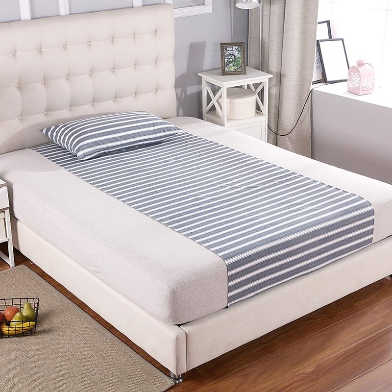 Demi-drap de lit (90x270cm)   Avec 1 kit de mise à terre conducteur en tissu antibactérien argenté